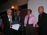 SUACONA Proclamation honoring Dr. Agustin Pulido presented by Chair Joel Pal and Past Chairs Renato Querubin and Sylvest