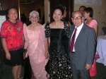 At the gala dinner with Ellafe Kiamco-Cockroft, Estrella Kiamco, the late Dr. Cicero Calderon and Felella (Daday) Kiamco