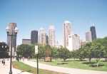 The Chicago skyline, site of the first Tipon Silliman gathering, May, 2001