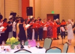 There was also singing. The Tipon choir conducted by Ruby Agnir sang at devotionals and performed.