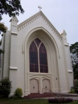 Front view of the Silliman church