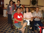 Meeting of SUACONA Board of Directors. Front: SAAI President Dorothy Cajayon, Marilyn Reyes, Inday Maxino, Frank Somera.