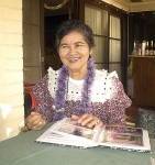 Retired Silliman University Chairperson of the Dept of Languages, Prof. Leonilda Bayran-Magdamo.