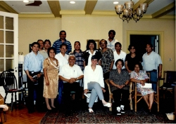 Participants of the Stony Point Conference. Left to right front row: Marilyn Sandalo Reyes (standing) Pres. Agustin Puli