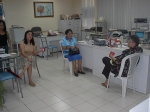 Two alumni visiting the SAAI office. From left to right: Inday Maxino, Mrs. Emma Magaso and Prof. Clarissa Ascano Flores