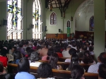 Sunday morning service at the Silliman University church