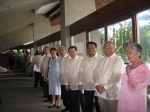 Lining up for the OSA Awarding ceremonies from left to right: Trustees Atty. Noel Tan, Mrs.Roslind Delloso, Atty. Reynal