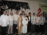 Front row: Mrs. Evelyn N. Abad, Mrs. Filomena T. Cang. Back row: Col. Roman T. Yap, Prof. Amiel Y. Leonardia, Dr. lexand