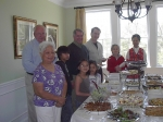 New Englanders gather at the home of Alan and Fe (Utzurrum) Lyman in Wellesly, Boston for their Spring meeting in April