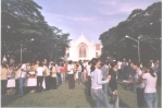 Light refreshments for everyone after a Sunrise Worship Service at SU amphitheatre on the 28th. It's Silliman Universit